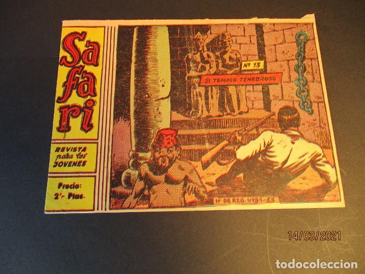 SAFARI (1965, RICART) 13 · 28-IV-1965 · EL TEMPLO TENEBROSO (Tebeos y Comics - Ricart - Safari)
