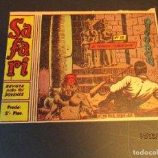 Tebeos: SAFARI (1965, RICART) 13 · 28-IV-1965 · EL TEMPLO TENEBROSO. Lote 247787090