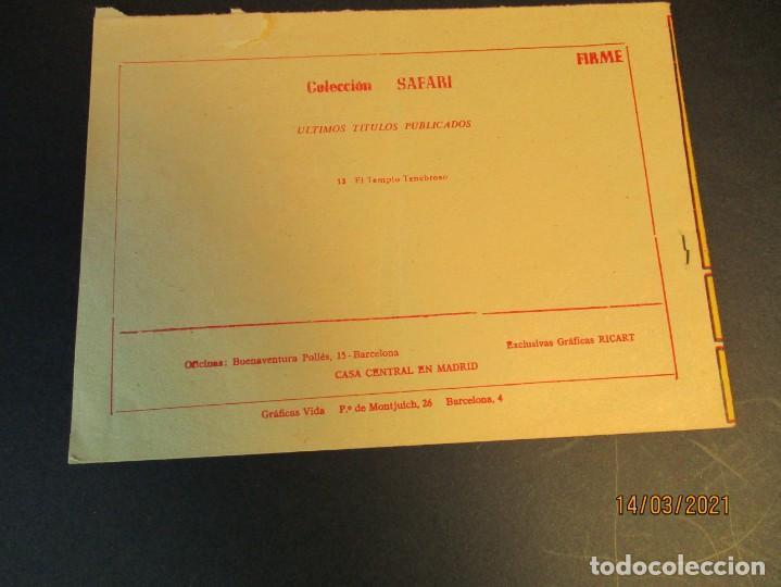 Tebeos: SAFARI (1965, RICART) 13 · 28-IV-1965 · EL TEMPLO TENEBROSO - Foto 3 - 247787090