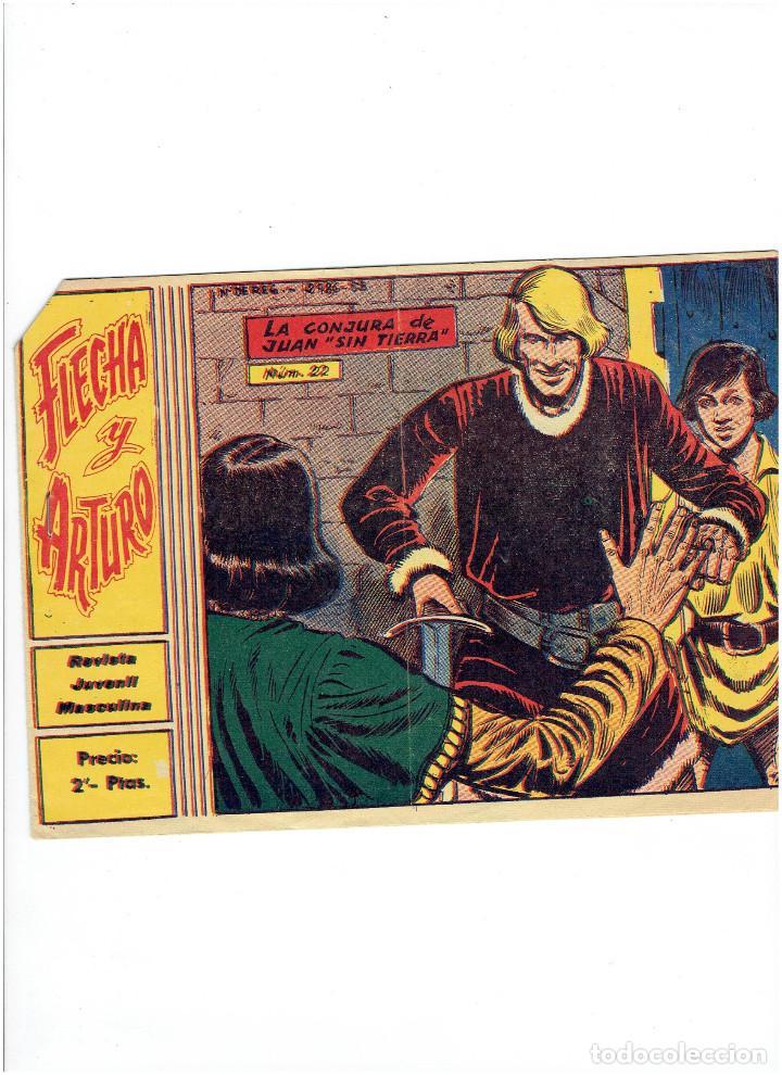 ARCHIVO * FLECHA Y ARTURO * Nº 22 * ORIGINAL DE 2 PTAS * ED. RICART 1965 * (Tebeos y Comics - Ricart - Flecha y Arturo)