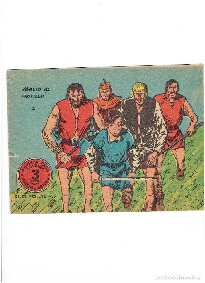 * FLECHA Y ARTURO * Nº 4 * ORIGINAL DE 3 PTAS * ED. RICART 1966 * (Tebeos y Comics - Ricart - Flecha y Arturo)