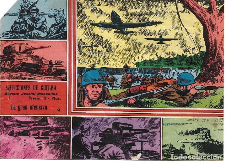 Tebeos: SELECCIONES DE GUERRA Nº 9: Con foto del BARÇA 1962-63 - Foto 2 - 252511245