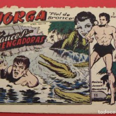 Tebeos: JORGA PIEL DE BRONCE. Nº 11 FAUCES VENGADORAS BARCELONA ORIGINAL RICART 1963. Lote 253534755