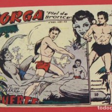 Tebeos: JORGA PIEL DE BRONCE. Nº 10 LUCHA A MUERTE BARCELONA ORIGINAL RICART 1963. Lote 253535275