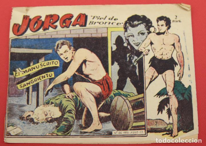 JORGA PIEL DE BRONCE. Nº 7 EL MANUSCRITO SANGRIENTO BARCELONA ORIGINAL RICART 1963 (Tebeos y Comics - Ricart - Jorga)