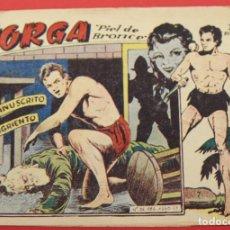 Tebeos: JORGA PIEL DE BRONCE. Nº 7 EL MANUSCRITO SANGRIENTO BARCELONA ORIGINAL RICART 1963. Lote 253535700