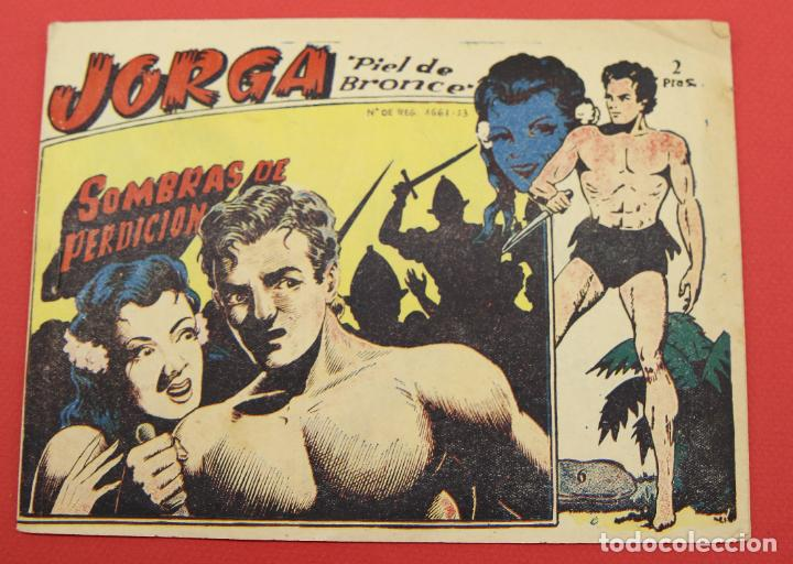 JORGA PIEL DE BRONCE. Nº 6 SOMBRAS DE PERDICION BARCELONA ORIGINAL RICART 1963 (Tebeos y Comics - Ricart - Jorga)