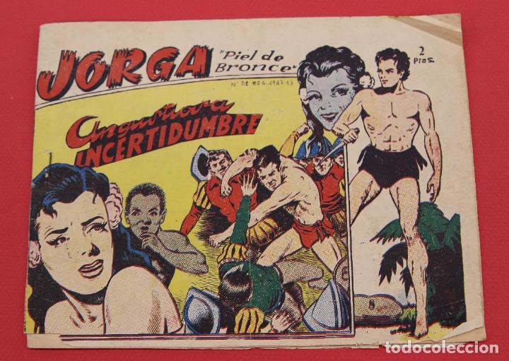 JORGA PIEL DE BRONCE. Nº 8 ANGUSTIOSA INCERTIDUMBRE BARCELONA ORIGINAL RICART 1963 (Tebeos y Comics - Ricart - Jorga)