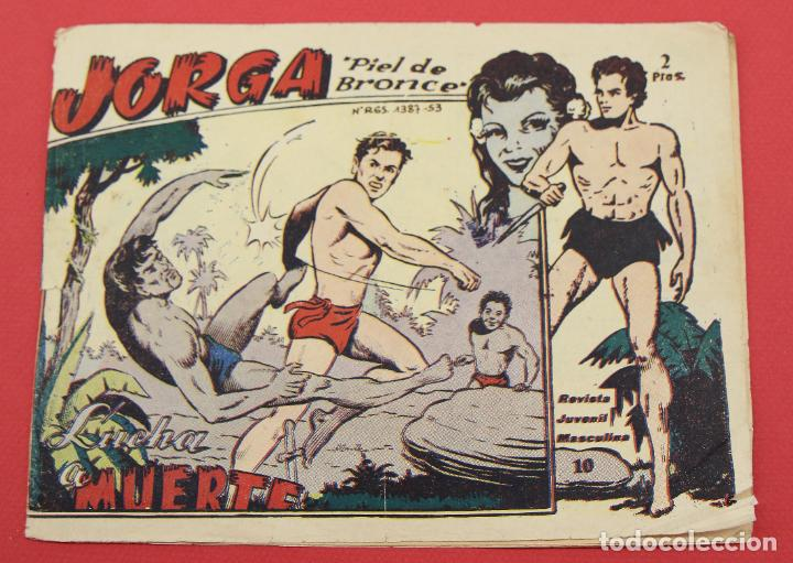 JORGA PIEL DE BRONCE. Nº 10 LUCHA A MUERTE BARCELONA ORIGINAL RICART 1963 (Tebeos y Comics - Ricart - Jorga)