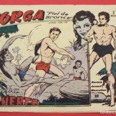 Tebeos: JORGA PIEL DE BRONCE. Nº 10 LUCHA A MUERTE BARCELONA ORIGINAL RICART 1963. Lote 253537615