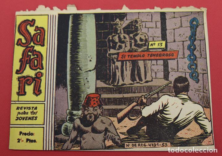 SAFARI EL TEMPLO TENEBROSO - Nº 13 - RICART ORIGINAL (Tebeos y Comics - Ricart - Safari)
