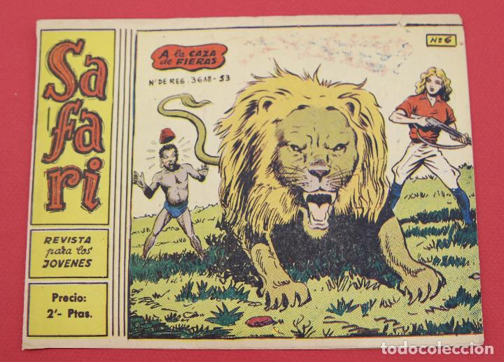 SAFARI Nº 6: A LA CAZA DE FIERAS RICART ORIGINAL (Tebeos y Comics - Ricart - Safari)