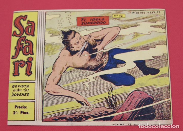 SAFARI Nº 12. EL IDOLO SUMERGIDO RICART ORIGINAL (Tebeos y Comics - Ricart - Safari)