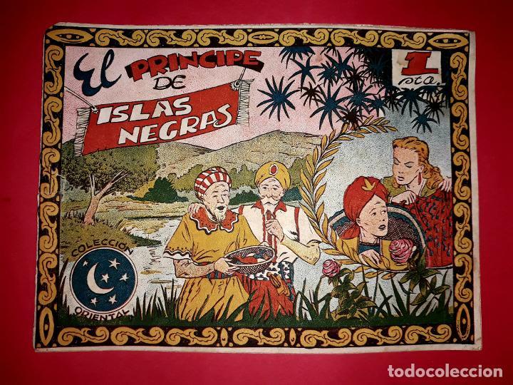 CUENTO EL PRINCIPE DE ISLAS NEGRAS COLECCIÓN ORIENTAL Nº 7 RICART 1950 MUY DIFÍCIL (Tebeos y Comics - Ricart - Otros)