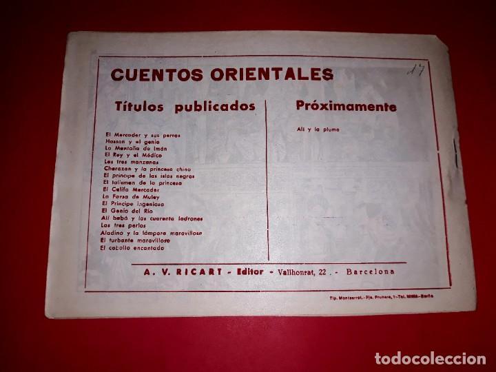 Tebeos: Cuento El Caballo Encantado Colección Cuentos Orientales Nº 17 Ricart 1950 Muy Difícil - Foto 3 - 260507530