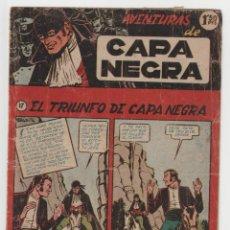 Tebeos: CAPA NEGRA Nº 17 (ULTIMO DE LA COLECCION) (EDITORIAL RICART). Lote 260547155