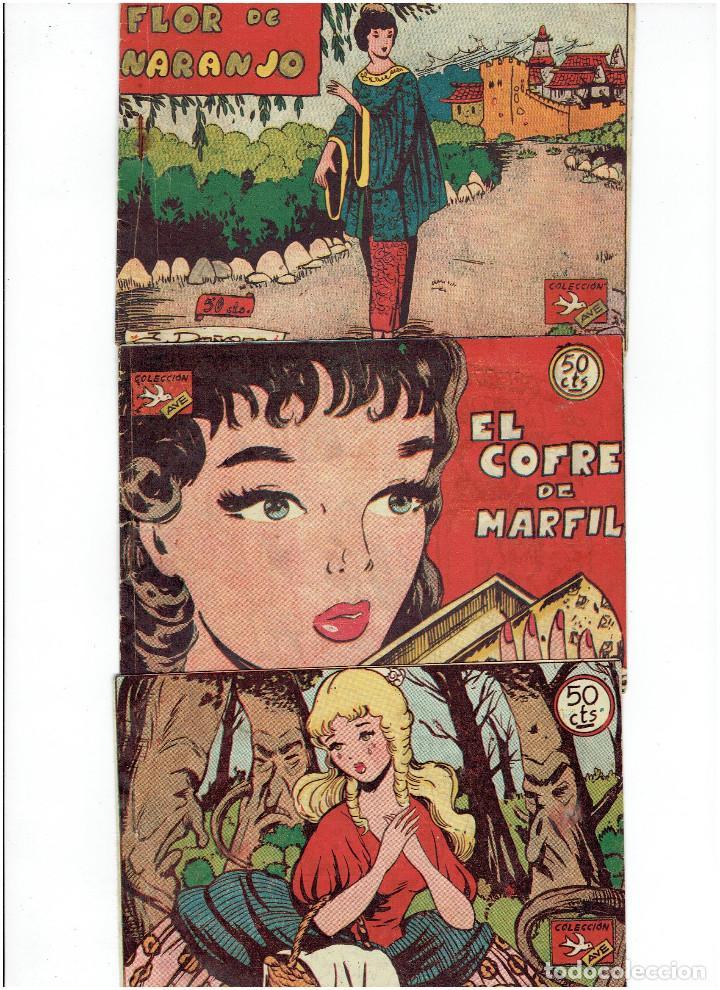 ARCHIVO * LOTE 3 CUENTOS DE LA COLECCIÓN AVE * RICART 1955 * Nº 29, 47, 72 * ORIGINALES * (Tebeos y Comics - Ricart - Ave)