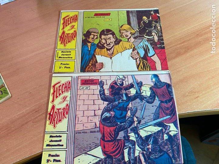 FLECHA Y ARTURO LOTE Nº 18 Y 20 (ORIGINAL RICART 2 PTAS) (COIB147) (Tebeos y Comics - Ricart - Flecha y Arturo)