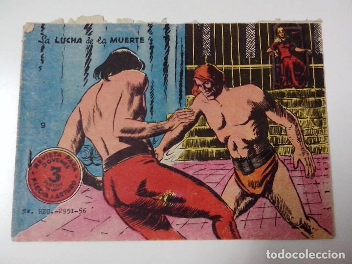 TEBEO FLECHA Y ARTURO Nº 9 LA LUCHA DE LA MUERTE (Tebeos y Comics - Ricart - Otros)