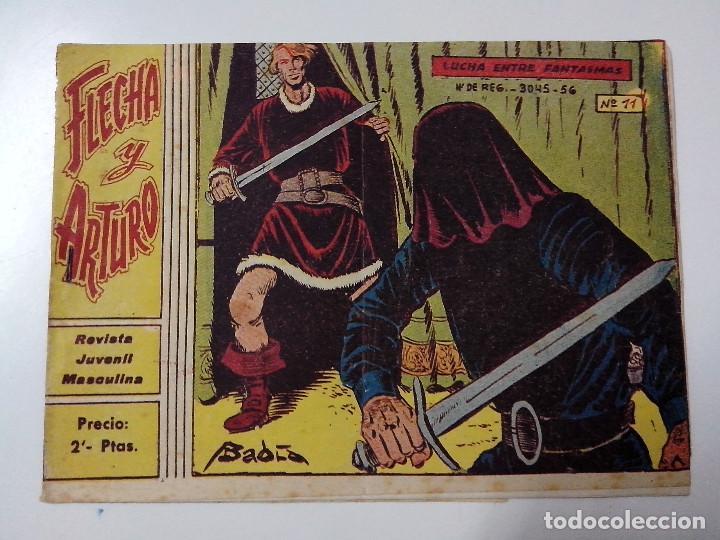 TEBEO FLECHA Y ARTURO Nº 11 LUCHA ENTRE FANTASMAS (Tebeos y Comics - Ricart - Otros)