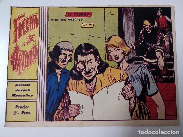 TEBEO FLECHA Y ARTURO Nº 18 EL TESORO (Tebeos y Comics - Ricart - Otros)