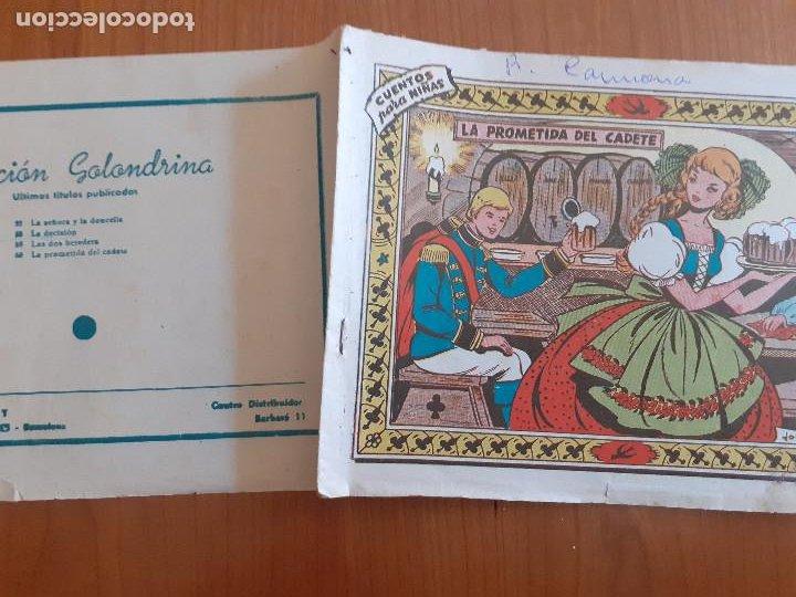 Tebeos: Colección Golondrina Nº 60. La prometida del cadete. Ricart. Normal estado - Foto 2 - 268878709