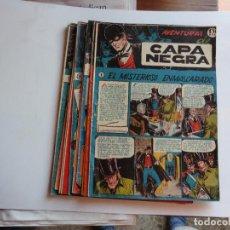Tebeos: CAPA NEGRA 17 CUADERNILLOS RICART 1953 ORIGINAL COLECCION COMPLETA. Lote 270614393