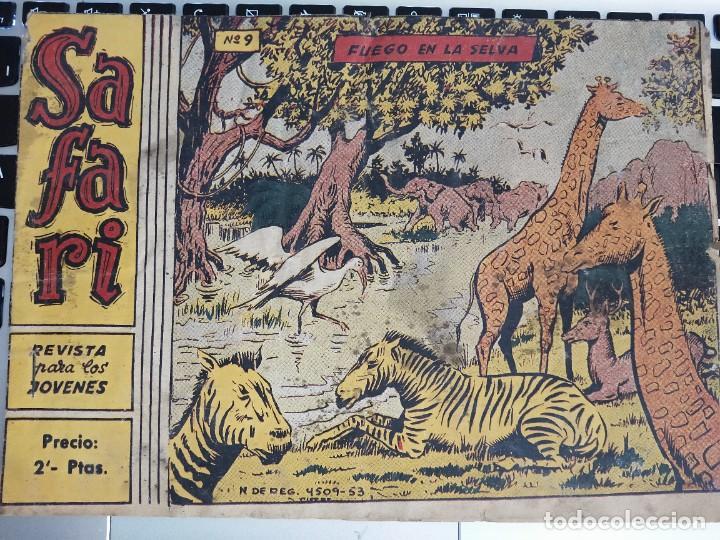 SAFARI (1965, RICART) 9 · 31-III-1965 · FUEGO EN LA SELVA (Tebeos y Comics - Ricart - Safari)