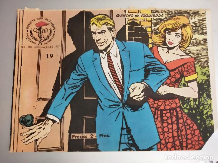 AVENTURAS DEPORTIVAS. REVISTA PARA LOS JÓVENES 19. GANCHO DE IZQUIERDA RICART, 1957 (Tebeos y Comics - Ricart - Aventuras Deportivas)