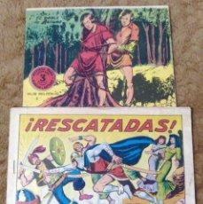 Tebeos: FLECHA Y ARTURO Nº 7 (RICART 1966) Y GUERRERO DEL ANTIFAZ Nº 541 (VALENCIANA 1963) 2 TEBEOS.. Lote 243334470