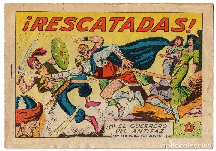 Tebeos: FLECHA Y ARTURO nº 7 (Ricart 1966) y GUERRERO DEL ANTIFAZ nº 541 (Valenciana 1963) 2 tebeos. - Foto 4 - 243334470