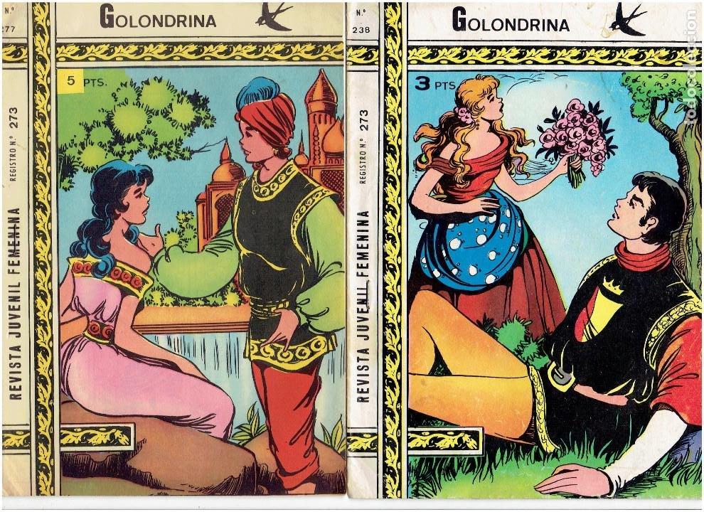 ARCHIVO * COLECCION GOLONDRINA * Nº 238, 277- 2ª EPOCA * EXCLUSIVAS RICART 1968 * ORIGINAL * (Tebeos y Comics - Ricart - Golondrina)