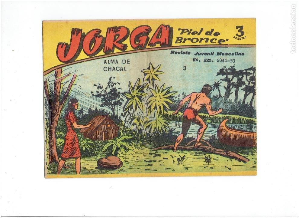 ARCHIVO * JORGA PIEL DE BRONCE * GRAFICAS RICART 1965 * Nº 3 * ORIGINALES * (Tebeos y Comics - Ricart - Jorga)