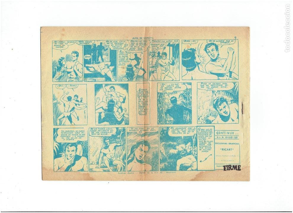 Tebeos: Archivo * JORGA PIEL DE BRONCE * GRAFICAS RICART 1965 * Nº 3 * ORIGINALES * - Foto 2 - 286891123
