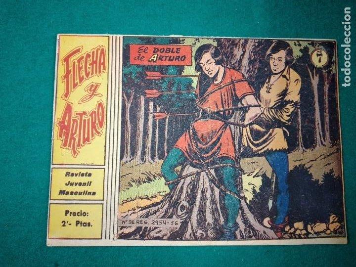 FLECHA Y ARTURO Nº 7. EL DOBLE DE ARTURO. RICART 1965. (Tebeos y Comics - Ricart - Otros)
