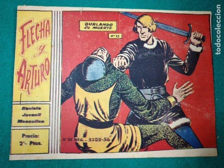 FLECHA Y ARTURO Nº 13. BURLANDO LA MUERTE. RICART 1965. (Tebeos y Comics - Ricart - Otros)