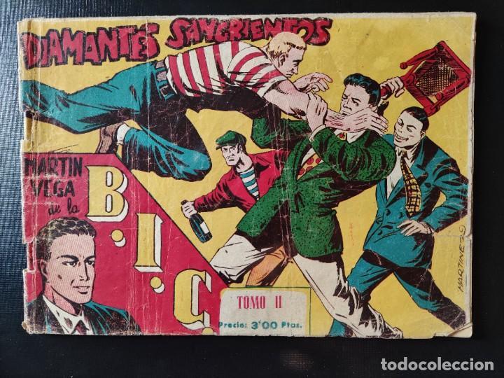 TEBEO- DIAMANTES SANGRIENTOS- MARTÍN VEGA DE LA B.I.C.- TOMO II- EXCLUSIVAS GRÁFICAS RICART- DIFÍCI (Tebeos y Comics - Ricart - Otros)