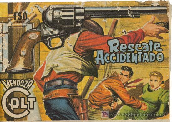 MENDOZA COLT ( ROLLÁN ) ORIGINAL AÑO 1955 LOTE (Tebeos y Comics - Rollán - Mendoza Colt)