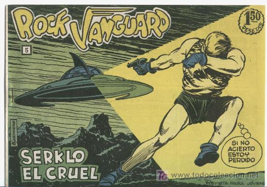 ROCK VANGUARD Nº 5, SIN CIRCULAR , UN LUJO EN TRICOMIA,RAREZA DE COLECCIONISTA (Tebeos y Comics - Rollán - Rock Vanguard)