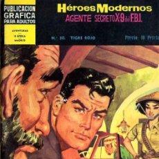 Tebeos: HEROES MODERNOS AGENTE SECRETO X-9 DEL FBI Nº32. Lote 5506205