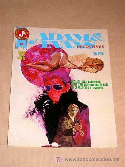 ADAM & EVANS DETECTIVES Nº 2. COMICS ROLLÁN SERIE ROJA. FERNANDO FERNÁNDEZ, VÍCTOR MORA, JOSEP GUAL (Tebeos y Comics - Rollán - Series Rollán (Azul, Roja, etc))