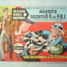 Tebeos: COLECCION HEROES MODERNOS ,AGENTE SECRETO X-9 DEL FBI N.4 ,. DOLAR ,SERIE C. Lote 20325764