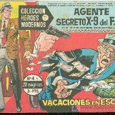 Tebeos: COLECCION HEROES MODERNOS. SERIE C. AGENTE SECRETO X 9 DEL FBI. Nº 4.. Lote 18049825