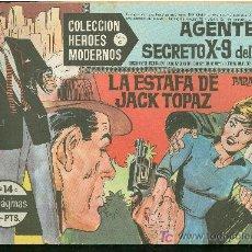 Tebeos: COLECCION HEROES MODERNOS. SERIE C. AGENTE SECRETO X 9 DEL FBI. Nº 14.. Lote 18050069