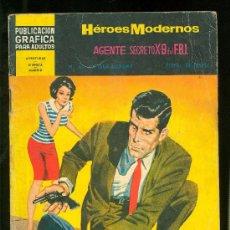 Tebeos: HEROES MODERNOS. II EPOCA. AGENTE SECRETO X-9 DEL F.B.I. Nº 6.. Lote 19721108