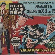 Tebeos: HÉROES MODERNOS SERIE C. Nº 4. AGENTE SECRETO X 9 DEL F.B.I... Lote 20228830