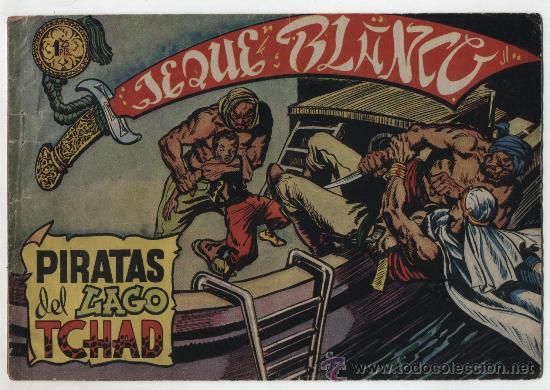 JEQUE BLANCO Nº 5: PIRATAS DEL LAGO TCHAD. (Tebeos y Comics - Rollán - Jeque Blanco)