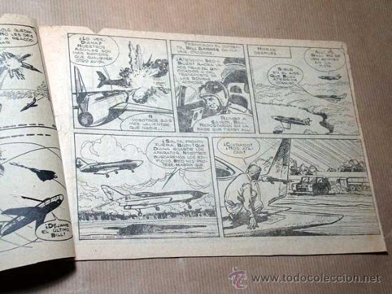 Tebeos: BILL BARNES Nº 9. LA GRAN AMENAZA. GUIÓN DE JARBER, DIBUJOS D. PELAYO (ADOLFO BUYLLA). ROLLÁN 1961. - Foto 2 - 27394394