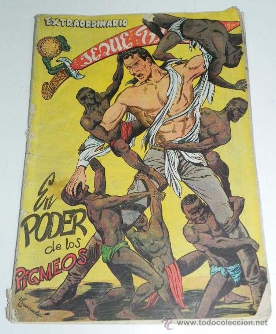 EXTRAORDINARIO JEQUE BLANCO NUM. 3 - EN PODER DE LOS PIGMEOS, ORIGINAL - ED. ROLLAN - , P (Tebeos y Comics - Rollán - Jeque Blanco)