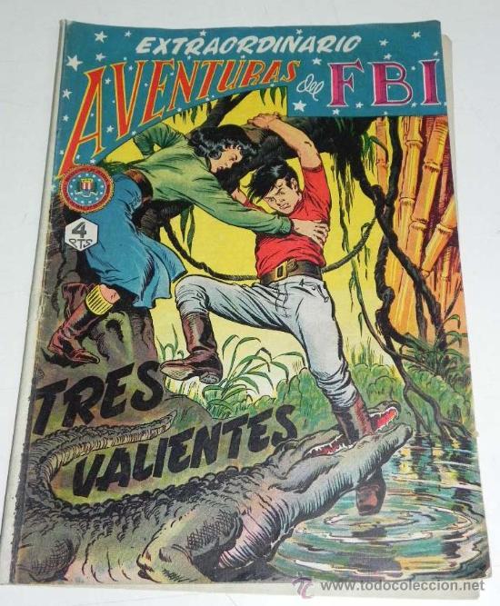 EXTRAORDINARIO AVENTURAS DEL FBI - EL N. 4 - ORIGINAL Y DE CONSERVACION. (Tebeos y Comics - Rollán - FBI)